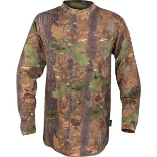 Jack Pyke Long Sleeve Tee Shirt In English Oak Camo