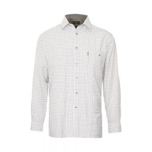 Champion Tattersall Cotton Shirt Green & Brown Check