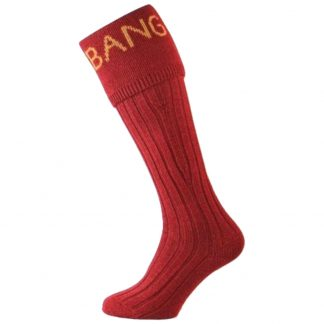 Bisley BANG BANG Shooting Socks in Red