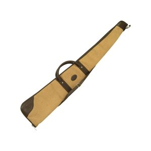 Shotgun Slip By GMK in Tan Canvas & Brown Leather Trim