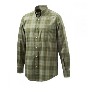 Beretta LU210 Classic Shirt Drip Dry Light & Dark Green Check