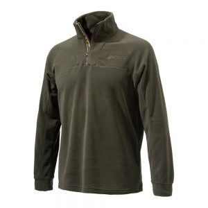 Beretta Half Zip Light Fleece in Brown P3311