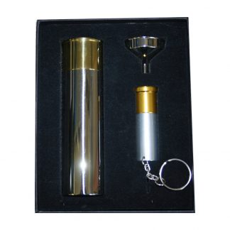 Novelty Shotgun Cartridge Hip Flask With keyring Cartridge Torch
