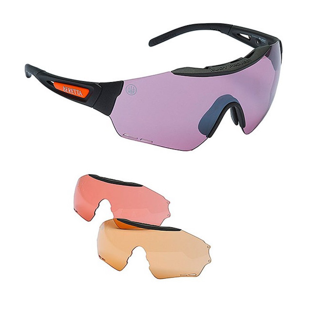 d303ea95dc Beretta Puull Shooting Safety Glasses with 3 Lenses OC21 »