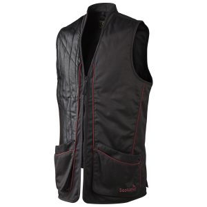 Seeland Tournament Waistcoat Shooting Vest In Black