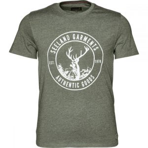 Seeland Aiden Tee Shirt Stags Head Motif