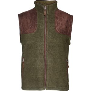 Seeland William 11 Fleece Waistcoat Gilet Pine Green