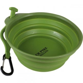 Jack Pyke 0.5 Ltr Collapsible Folding Dog Water Food Bowl