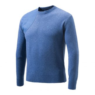 Beretta PU441 Classic Round Neck Sweater Blue