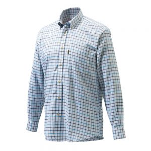 Beretta LU321 Classic Shirt White Black Brown Check