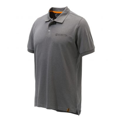 Beretta Corporate Striped Polo Shirt Grey MP013