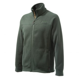 Beretta Full Zip Polartec 300 Ribbed Look Fleece in Green P3371