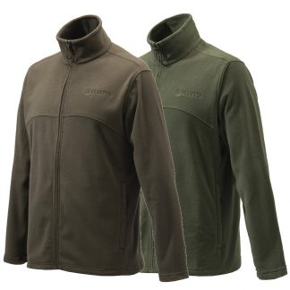 Beretta Full Zip Fleece in Green Or Chocolate P3421