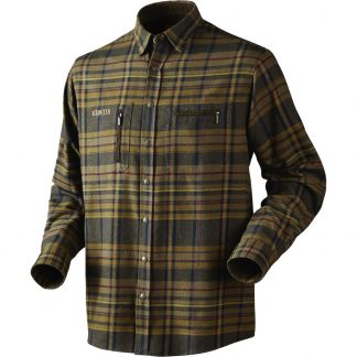 Harkila Eide Shirt in Dark Olive Check