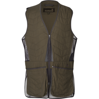 Seeland Skeet Light Shooting Vest Waistcoat In Pine Green
