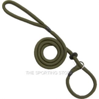Bisley Basic Olive Green Braided Dog Training Slip Lead