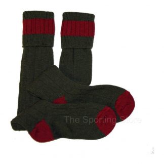 Bisley Shooting Breek Socks in Olive & Cassat