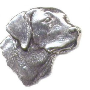 Labrador's Head Pewter Shooting Pin Badge
