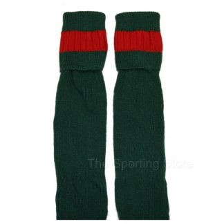 Bisley Shooting Breek Socks Olive / Red