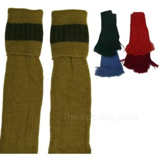 Bisley Shooting Breek Socks Antique / Olive Garters