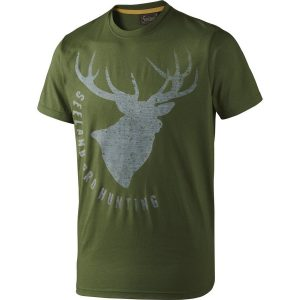 Seeland Fading Stag Tee Shirt in Green